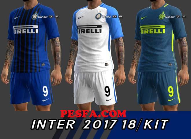 کیت پک جدید Inter Milan 2017-18 برای PES 2013