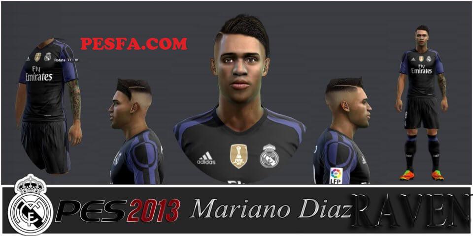 فیس و موی جدید Mariano Díaz برای PES 2013
