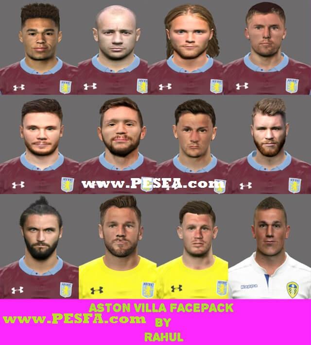 مگا فیس پک تیم Aston Villa برای PES 2017