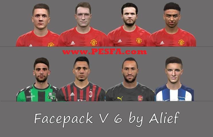 فیس پک ورژن 6 توسط Alief برای PES 2017