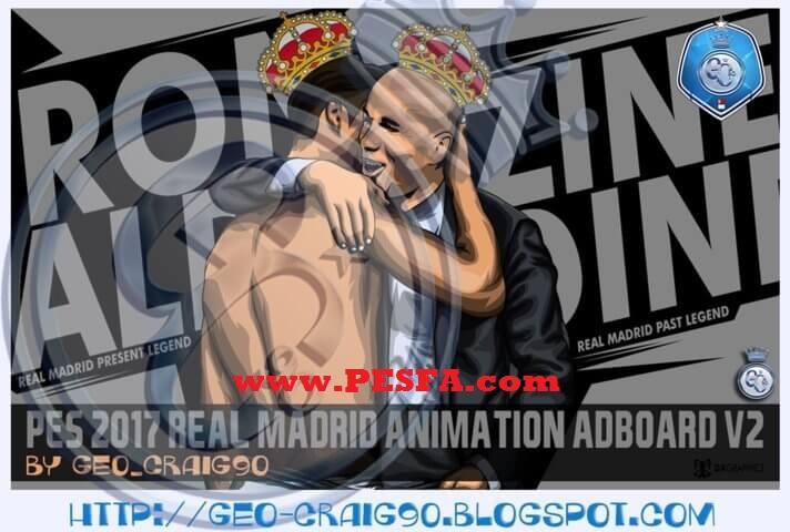 تابلو تبلیغاتی رئال مادرید v2 برای PES 2017