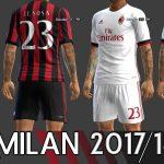 کیت پک جدید AC Milan 17-18 برای PES 2013