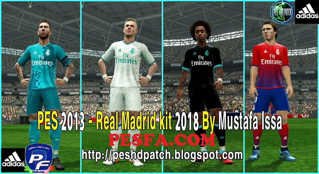 کیت پک جدید Real Madrid CF 2018 برای PES 2013