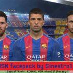فیس پک جدید MSN توسط Sinestro19 برای PES 2017