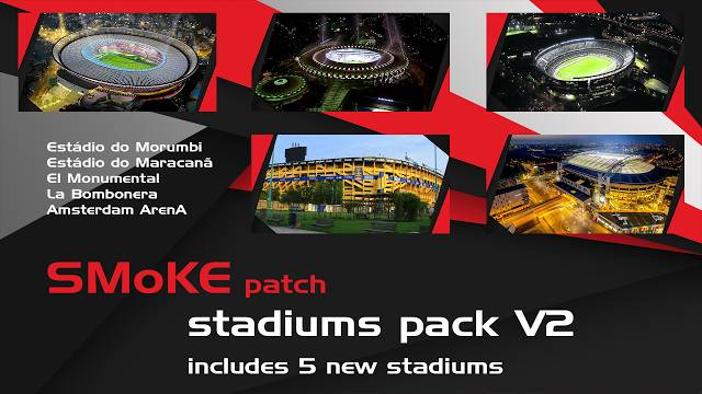 پک استادیوم ورژن 2 برای پچ Smoke 9.3.3