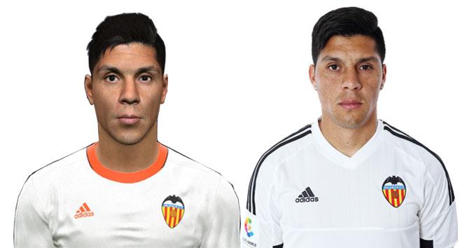 فیس جدید (E.Pérez (Valencia برای PES 2017