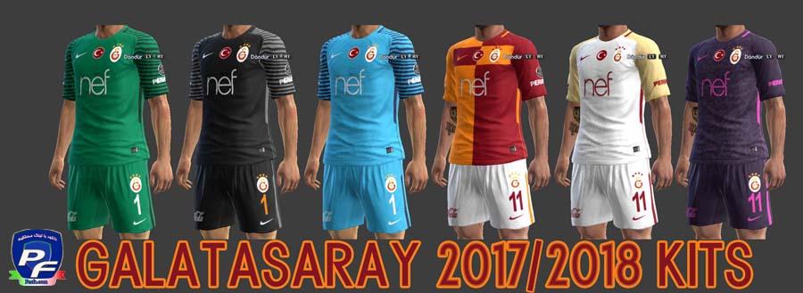 کیت پک Galatasaray 2017-18 برای PES 2013