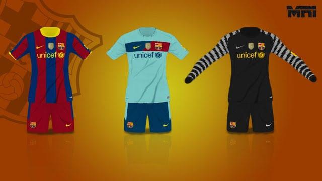 کیت 2010-2011 بارسلونا برای pes 2017