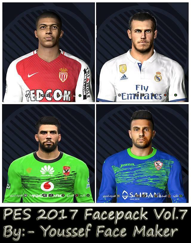 فیس پک ورژن 7 توسط Youssef برای PES 2017