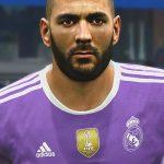 فیس جدید Karim Benzema برای PES 2017