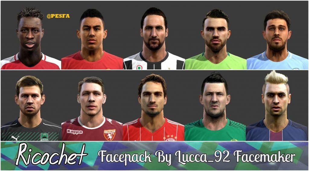 فیس پک Ricochet توسط Lucca_92 برای PES 2013