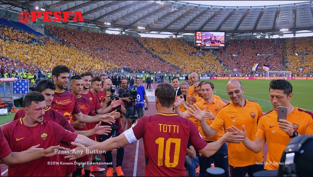 استارت اسکرین Totti برای PES 2017