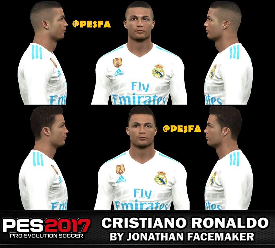 فیس و مو جدید Cristiano Ronaldo توسطJonathanبرای PES 2017