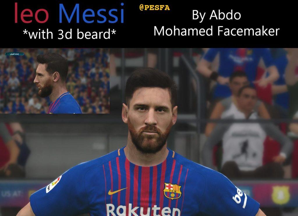 فیس جدید Messi توسط Abdo Mohamed برای PES 2017