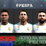 فیس پک رئال مادرید توسط Blue برای PES 2013