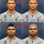 فیس جدید Ronaldo و Casemiro توسط WER برای PES 2017