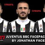 فیس پک Juventus BBC توسط Jonathan برای PES 2017
