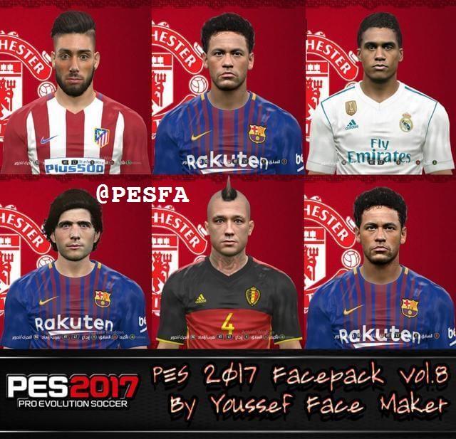 فیس پک ورژن 8 توسط Yousef برای PES 2017