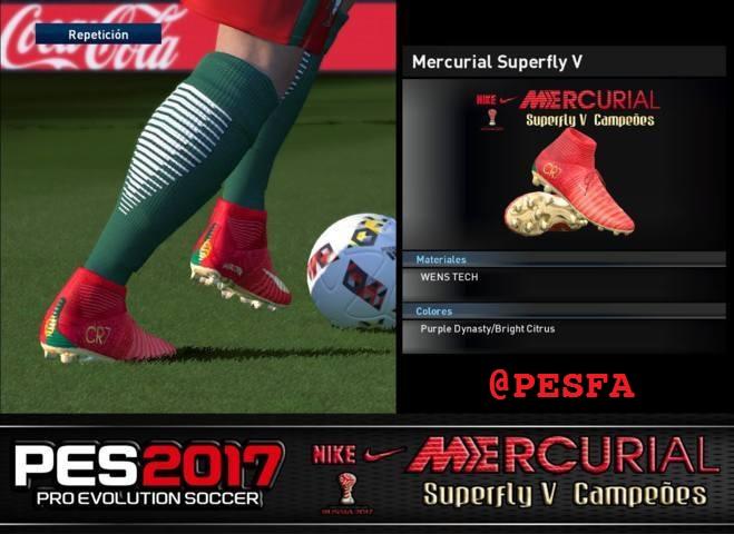 کفش Nike Mercurial Superfly V Campeões برای PES 2017