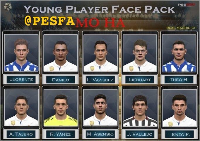 فیس پک بازیکنان جوان Real Madrid توسط Mo Ha برای PES 2017