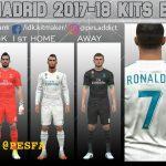 کیت پک Real Madrid 2017/18 برای PES 2017
