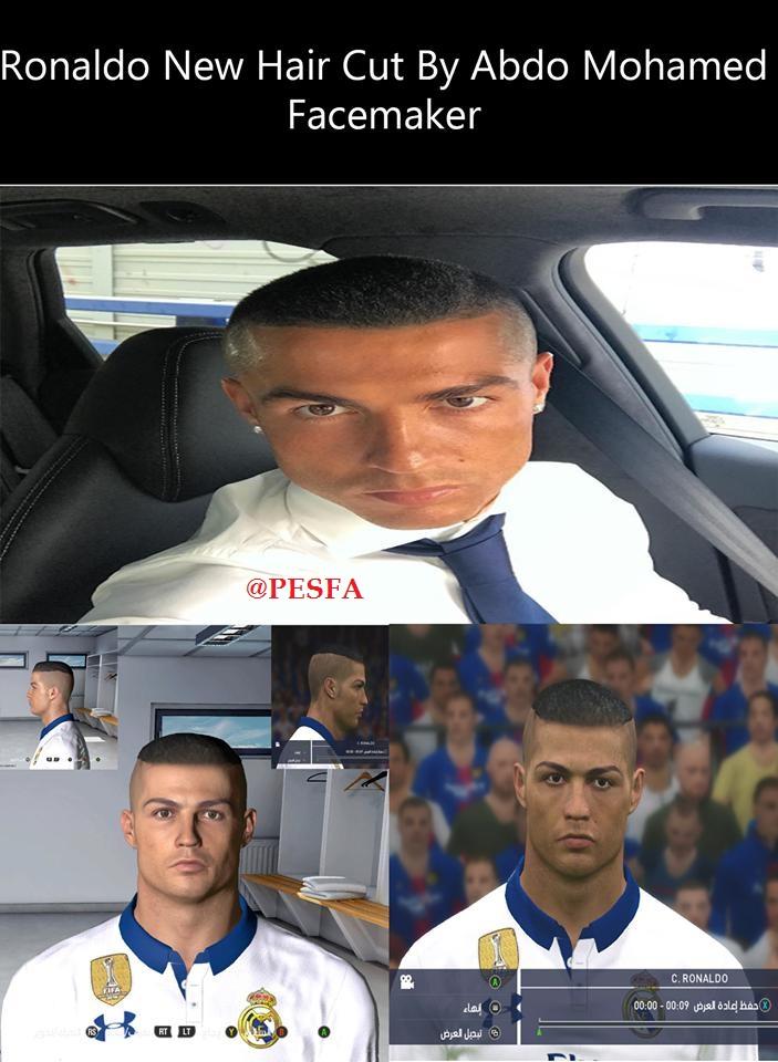 فیس و مدل مو جدید Ronaldo توسط Abdo Mohamed برای PES 2017
