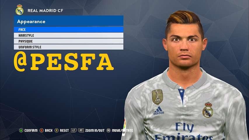 فیس جدید Ronaldo توسط White Demon برای PES 2017