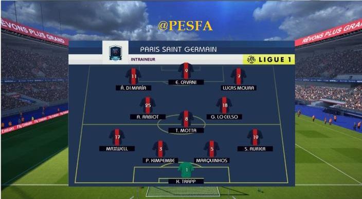 اسکوربورد Ligue 1 توسط G-Style برای PES 2017