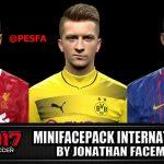 مینی فیس پک جدید توسط Jonathan برای PES 2017