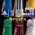 کیت پک Milan و Juventus فصل 2017/18 برای PES 2013