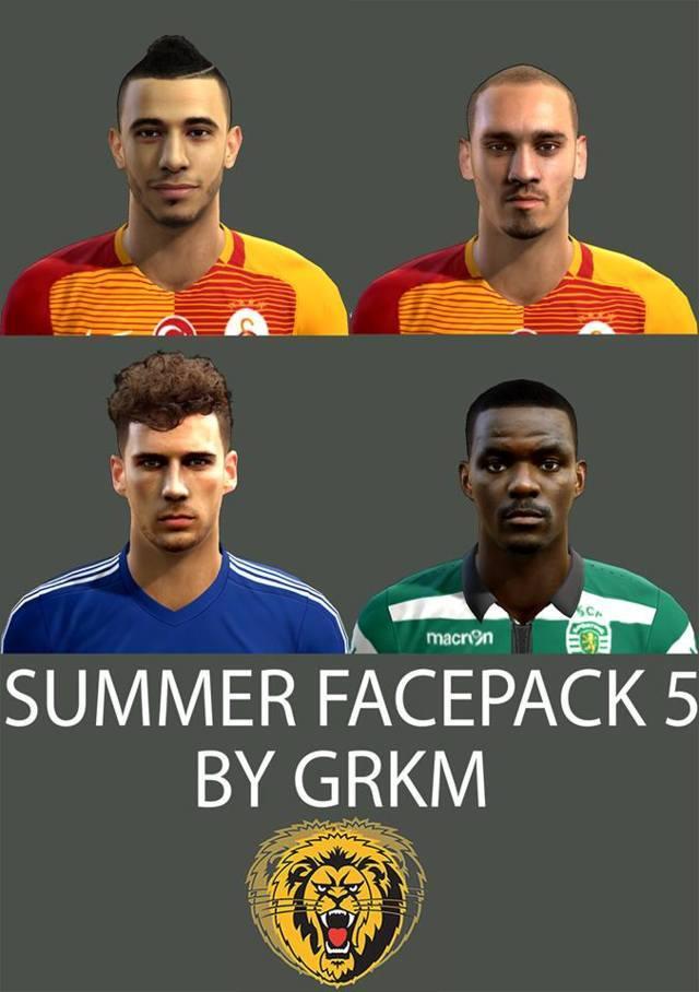 فیس پک Summer توسط Grkm برای PES 2013