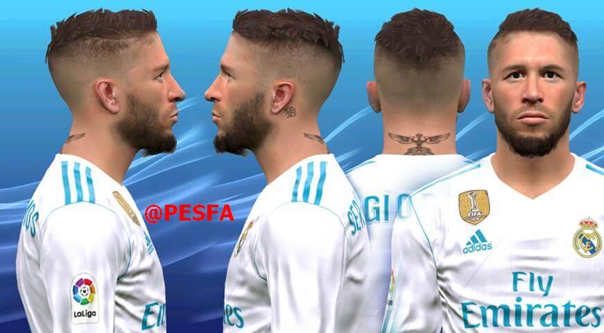 فیس جدید Sergio Ramos توسط Huseyn برای PES 2017