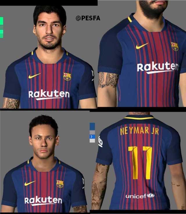 فیس و تتو Luis Suarez و Neymar برای PES 2017