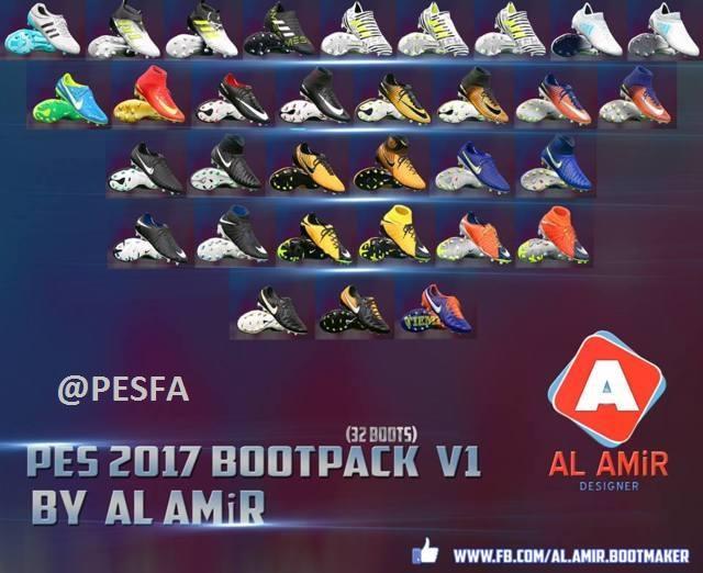 پک کفش 2018 ورژن 1 توسط AL AmiR برای PES 2017
