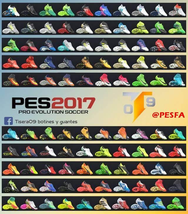 پک کفش 100 تایی v3 توسط Tisera09 برای PES 2017