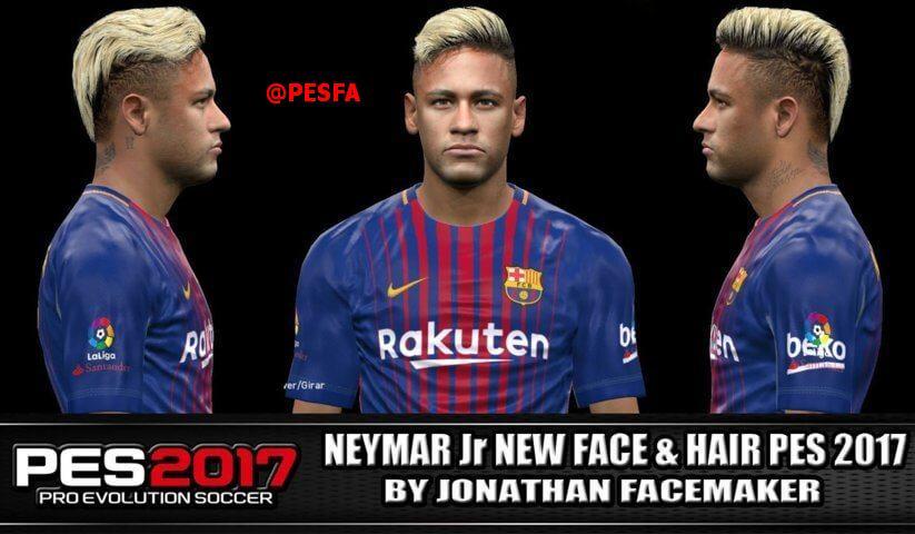 فیس و مو جدید Neymar Jr توسط Jonathan برای PES 2017