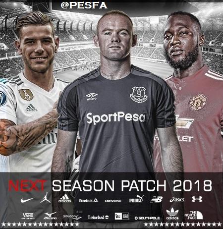پچ Next Season 2017-2018 برای PES 2010