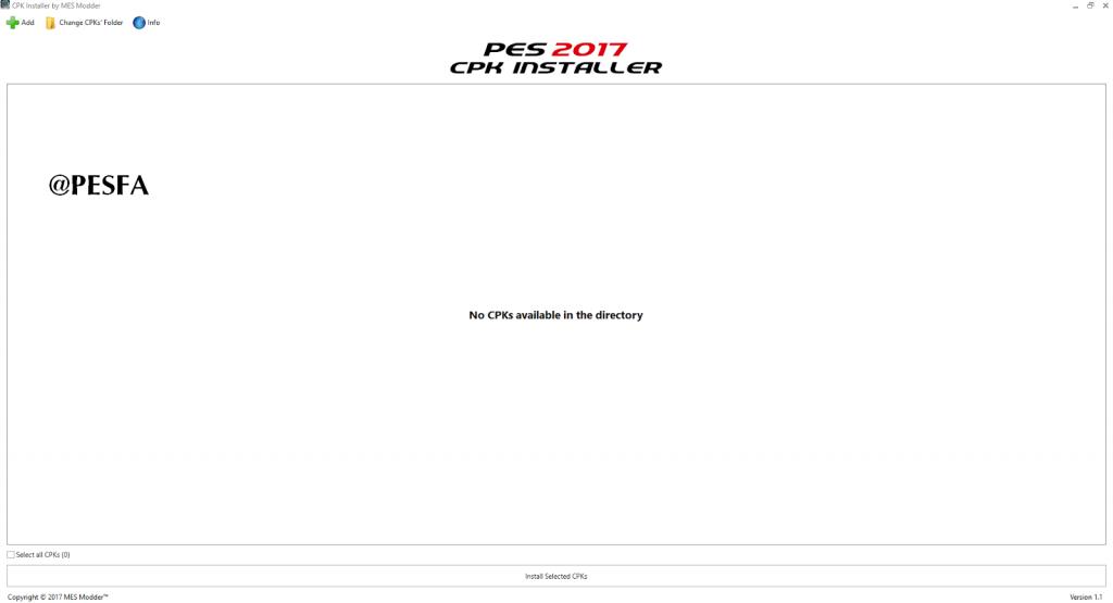 نرم افزار CPK Installer V1.1 برای PES 2017
