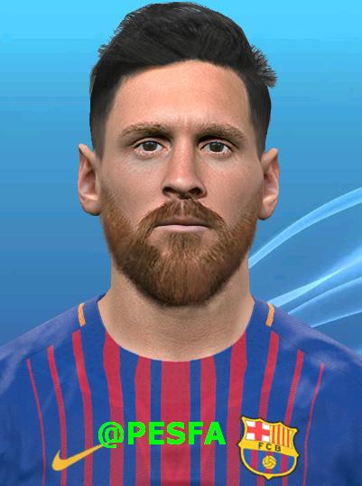 فیس جدید Messi توسط Huseyn برای PES 2017