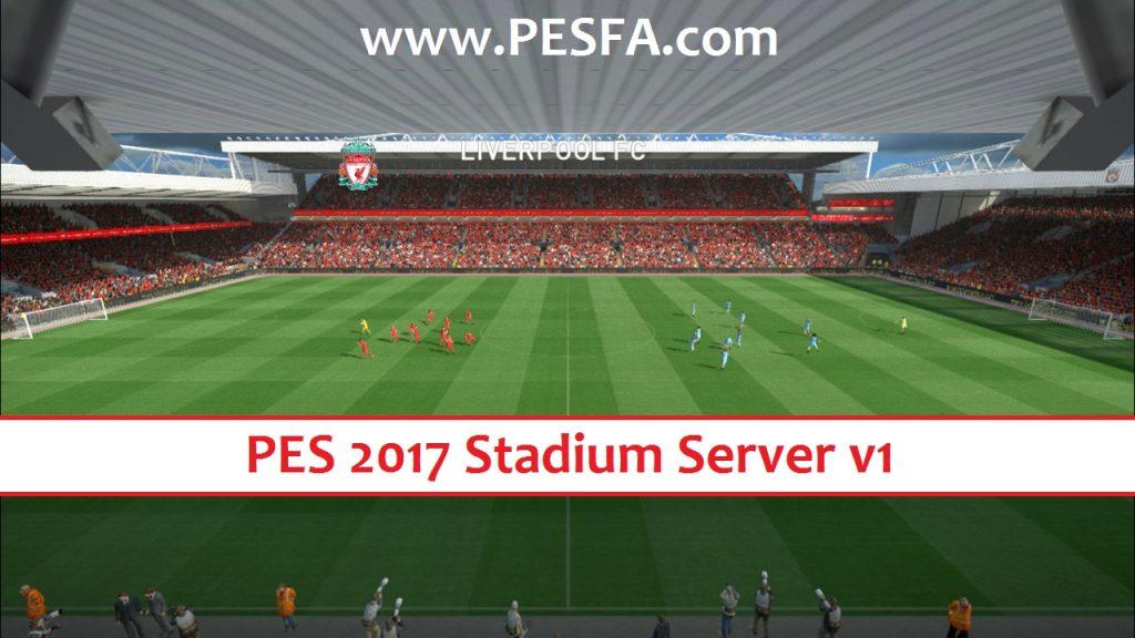 استادیوم سرور v1 برای PES 2017 (شامل 45 استادیوم)