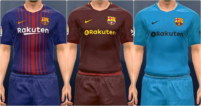 کیت پک Barcelona 2017-18 با کیفیت PS4 برای PES 2017