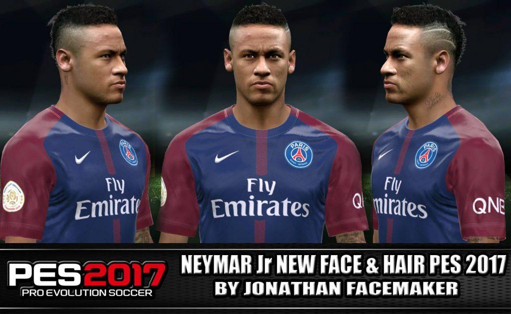 فیس و مو جدید Neymar توسط Jonathan برای PES 2017