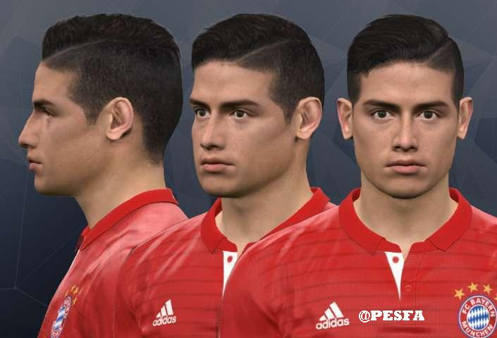 فیس جدید James Rodríguez توسط WER برای PES 2017