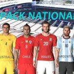 کیت پک تیم های ملی ورژن 1 توسط RFA برای PES 2017