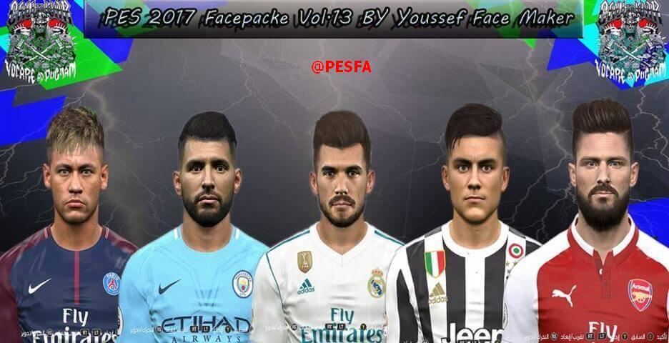 فیس پک ورژن 13 توسط Youssef برای PES 2017