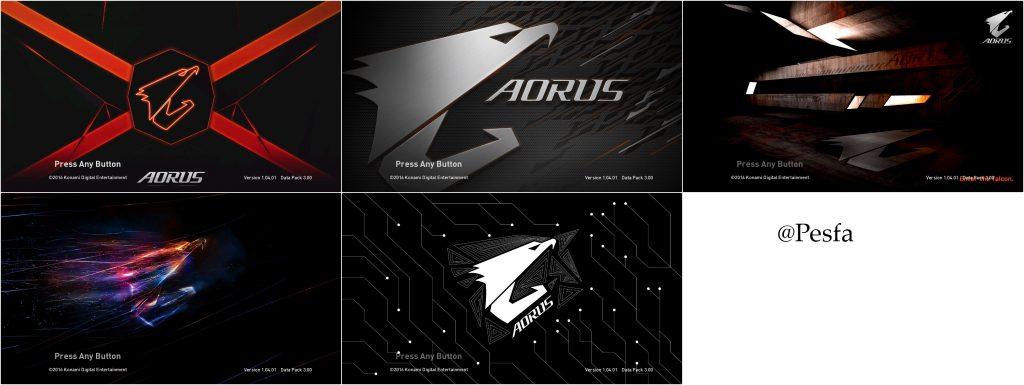 استارت اسکرین پک Aorus برای PES 2017