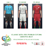 کیت پک تیم ملی ایران در جام جهانی 2006 آلمان برای PES 2017
