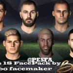 فیس پک PES 2018 ورژن 2 توسط Bebo برای PES 2017