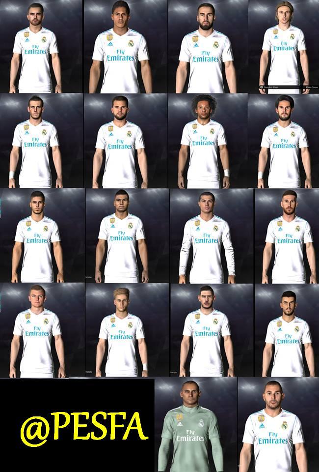مگا فیس پک Real Madrid توسط Shenawy برای PES 2017