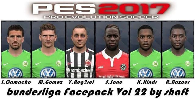 فیس پک Bundesliga ورژن 22 توسط Shaft برای PES 2017